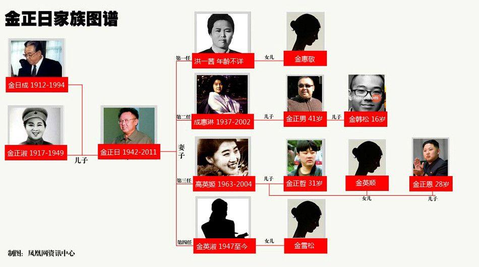 朝鲜领导金氏家谱图片